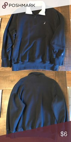 Navy blue pull-over Navy blue pull over-  no tag but pretty certain it is an XL Jackets & Coats