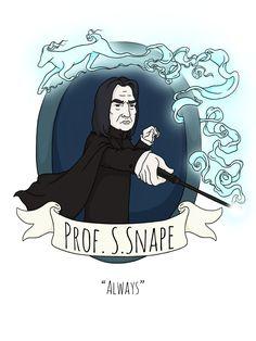Snape by Kirsty Willette Illustration #harrypotter #illustration #alanrickman #snape #severoussnape