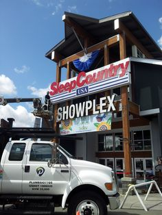 Hanging up some great sponsorship signage at the Spring Puyallup Fair! #sponsorship #signage #eventprofs