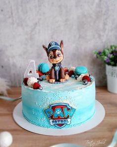 Paw Patrol cake - cake by Cakes Julia - paw patrol - kuchen kindergeburtstag Paw Patrol Cake, Cupcakes Paw Patrol, Bolo Do Paw Patrol, Bolo Mickey Chantilly, Snowflake Wedding Cake, Paw Patrol Birthday Theme, Mad Hatter Cake, 4th Birthday Cakes, Birthday Cake Kids Boys