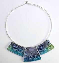 Glass NECKLACE blue bubbles COLLAR unique OOAK by crashia on Etsy, $65.00 https://www.mickiewiczglass.com/necklaces?lightbox=dataItem-ivh8j87y