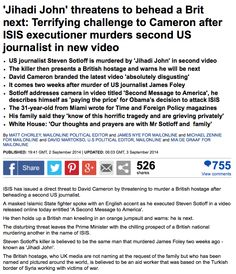 Daily Mail, 3 Sept, 2014.