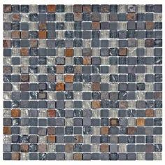 Merola Tile Tessera Mini Wisp 11-3/4 in. x 11-3/4 in. x 8 mm Glass and Stone Mosaic Wall Tile-GITTMNWP - The Home Depot