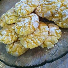 Greek Cookies, Almond Cookies, Cookie Recipes, Snack Recipes, Dessert Recipes, Snacks, Lemon Recipes, Greek Recipes, Lemon Biscuits