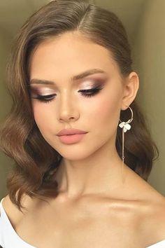 Mac Makeup, Pink Makeup, Blue Eye Makeup, Bridal Makeup For Green Eyes, Makeup With Green Dress, Bridal Smokey Eye Makeup, Makeup Looks For Green Eyes, Natural Wedding Makeup, Bride Makeup