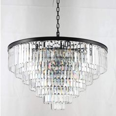 This product listing is for the Width 7 Tier Round Odeon Crystal Chandelier. Crystal Uses, Clear Crystal, Clear Glass, Crystal Chandelier Lighting, Modern Chandelier, Ceiling Light Fixtures, Ceiling Lights, Fine Art Lighting, Candelabra Bulbs