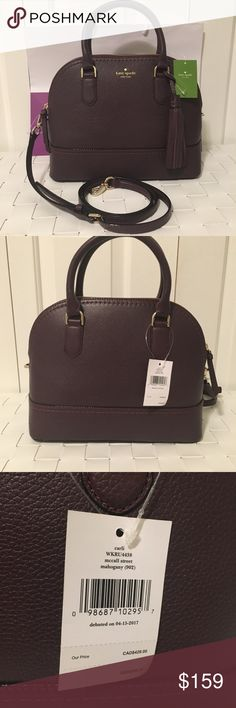NWT Kate spade McCall street carli satchel bag Brand new with tags Comes with Crossbody strap that is detachable  In the color mahogany (plum color) Comes with tassel shown at front of Bag Comes with gift bag Perfect for the holidays kate spade Bags Satchels