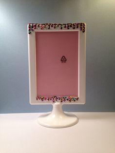 Side 1 of a double sided decoden picture frame. Now on etsy in my shop, DecodenDana.