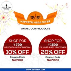 #GoswhitNavratri  This #Navratri light the lamp of #Happiness, #Prosperity and #knowledge. Celebrate this Navratri festival with goswhit. Shop under different categories of product and grab upto 40% off.  Visit: www.goswhit.com