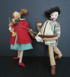 Roldan & Klumpe?-felt-dolls-from-Spain-depicting-artists