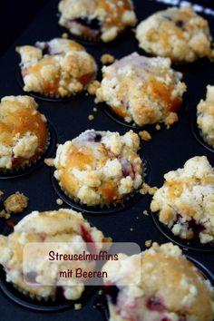 (Mini)Streuselmuffins mit Beeren