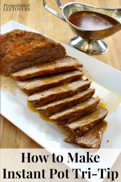 How to make Instant Pot Tri-Tip with homemade gravy. Includes 2 spice rub mix recipes that you can use to season the Tri-Tip roast Instant Pot Tri Tip Recipe, Instant Pot Turkey Breast Recipe, Instant Pot Dinner Recipes, Instant Cooker, Instant Pot Pressure Cooker, Pressure Cooker Recipes, Tri Tip Steak Recipes, Beef Recipes, Recipies