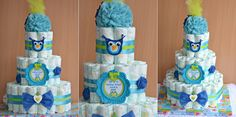 Tort scutece pampers Diy Crochet, Baby Shower, Children, Cake, Handmade, Diapers, Baby Favors, Homemade, Birth
