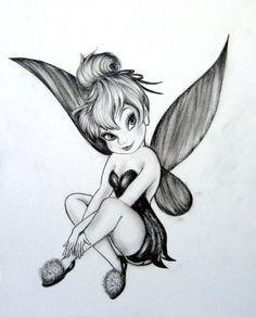 Beautiful Tinkerbell drawing