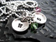 Hand Stamped Jewelry  Personalized Necklace  by BragAboutIt, $34.00