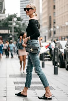 a946c5ab0c9 How to Wear Mules Shoes This Summer - 30 Outfit Ideas · Gucci  PrincetownLoafer MulesMules ShoesBlack ...