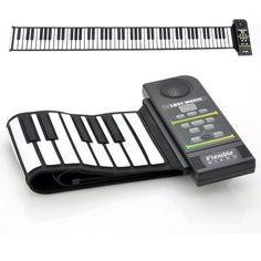 Flexible Roll Up Synthesizer Keyboard Piano - 88 Soft Keys, Loud Speaker