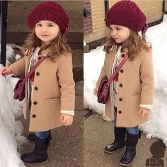 Girls Winter Outfits, Kids Outfits Girls, Little Girl Outfits, Little Girl Fashion, Toddler Girl Outfits, Toddler Girl Coats, Girls Coats, Fashion Kids, Kids Winter Fashion
