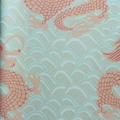 Matthew Williamson Celestial Dragon Wallpaper - W6545-01 ($160) ❤ liked on Polyvore featuring home, home decor, wallpaper, chinese home decor, chinese screen, pattern wallpaper, dragon home decor and matthew williamson