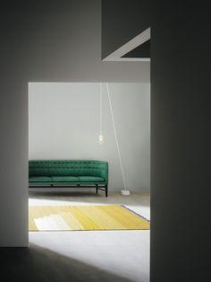 Terrific suggestions in the case of home improvment. home improvement ideas UK. Home decor. Nordic Design, Scandinavian Design, Interior Architecture, Interior And Exterior, Green Sofa, Arne Jacobsen, Interior Decorating, Interior Design, Marble Floor