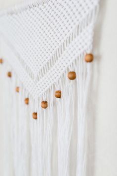 Macrame Wall Hanging With Wooden Beads  Unique от KNOTinterior