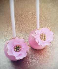 PInk Wedding Cake Pops.