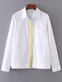 gotta love the simple detail that makes this just not your average white shirt =) #neon
