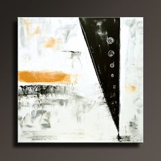 ABSTRACT PAINTING Black White Gray Gold Painting by itarts on Etsy