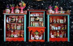 harry potter miniatures | Dollhouse Miniature Harry Potter Honeydukes Sweet Shop cabinets ...