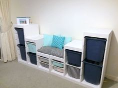 Ikea Bedroom, Small Room Bedroom, Bedroom Storage, Bedroom Decor, Small Rooms, Bedroom Ideas, Family Room Playroom, Ikea Kids Room, Ikea Playroom