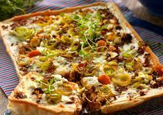 Quiches, Vegan Recipes, Cooking Recipes, Good Food, Yummy Food, Swedish Recipes, Brunch Party, Vegetable Pizza, The Best