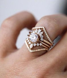 Rose Gold Moissanite Engagement Ring / Unique Nature Inspired Flower Engagement Ring / Vintage Moissanite Ring / Floral Engagement Ring - Fine Jewelry Ideas Source by heidigugliuzza Vintage Engagement Rings, Diamond Engagement Rings, Boho Engagement Ring, Morganite Engagement, Vintage Wedding Bands, Unique Wedding Bands For Women, Stacked Engagement Ring, Vintage Diamond Rings, Stacked Wedding Rings