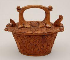 Scandinavian carved box