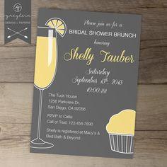 Bridal Shower Brunch Invitations (color options)