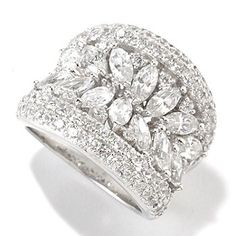 126-363 - Charlie Lapson for Brilliante® Platinum Embraced™ 3.33 DEW Marquise Concave Ring