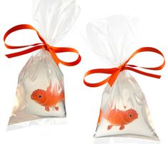 Nemo soap! Melted Glycerin , heavy plastic bags, rubber fish = awesome.