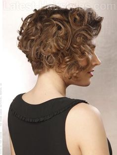 Asymmetrical Sass Cute Style with Curls and Volume Stacked Back