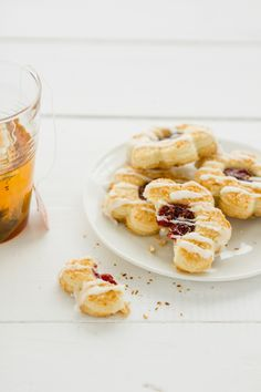 Sips and Spoonfuls: Coconut Jam Shortbreads with Coconut Icing