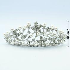 wedding floral head crowns | home bridal head pieces tiaras crowns prom wedding flower pearl crown ...