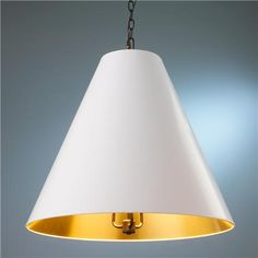 $269 #CircaGoodmanKnockoff #LGN Oversized   via Shades of Light: Cone Shade Pendant 6 colors!