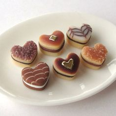 Miniature Heart Shaped Biscuits.  ❤