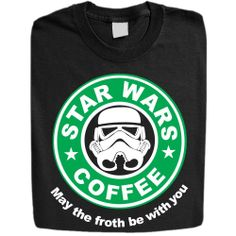 Stabilitees Starwars Coffee May the Froth Be With You Womens T Shirts