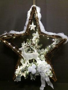 Kerst ster winter wit