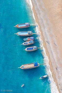 The beach at Fethiye, Turkey • photo by Ali Kabas #Turkey #TravelTyrkey