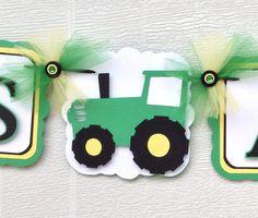 Bandera de tractor tractor del bebé ducha por NancysBannerBoutique