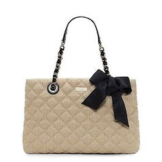 Kate Spade--OMG! I loooove quilted handbags! One day I'll be able to afford this or a Chanel ;)