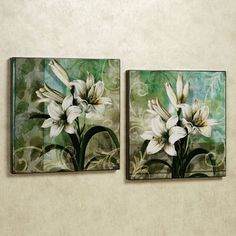 youth and innocence lily floral wall art set