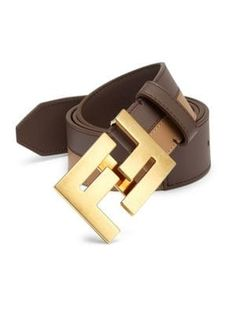 Fendi Bicolor Leather Belt In Brown Mens Designer Shoes, Designer Belts, Designer Handbags, Belts For Women, Hats For Men, Leather Belts, Leather Men, Jeans And Sneakers Outfit, Fendi Belt