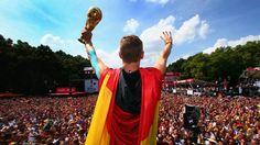 Schweinsteiger shows off the World Cup