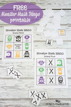 FREE Monster Mash Bingo Printable - perfect for pre-schoolers and daycare! via createcraftlovecom